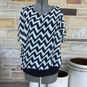 K. Jordan Chevron Top